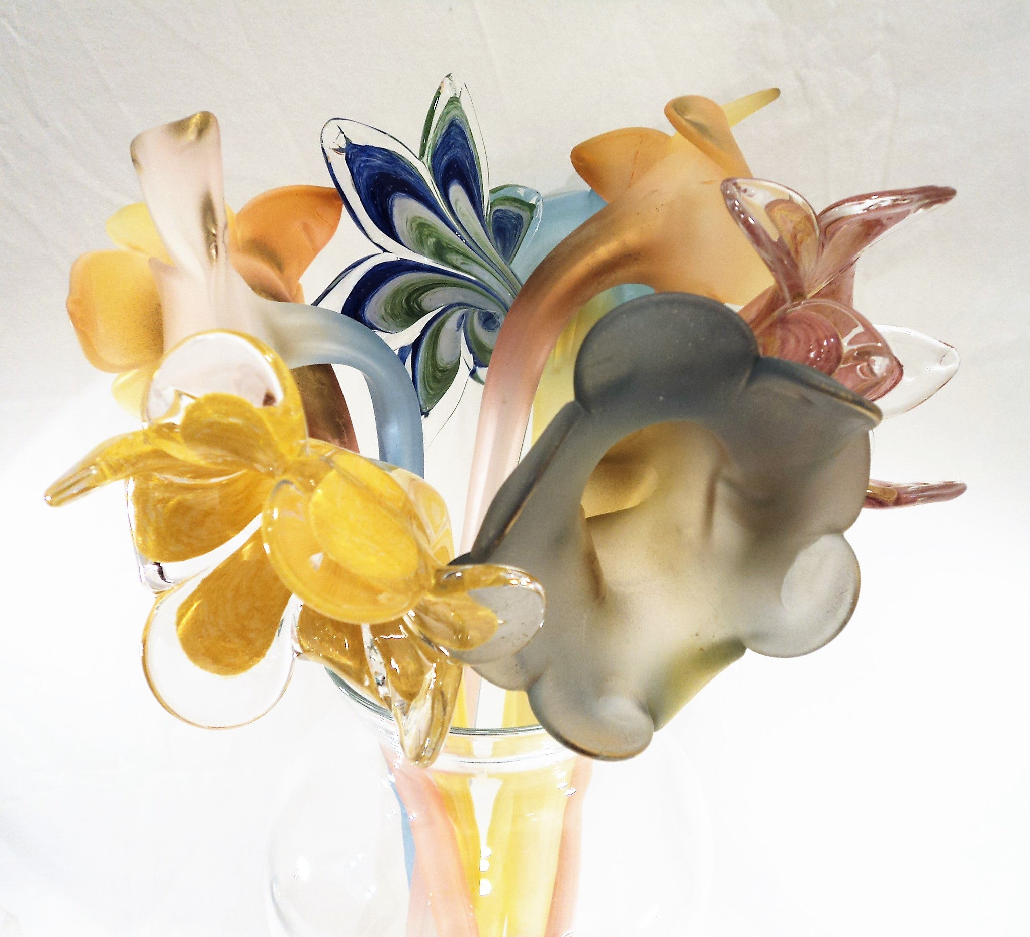 Italian Hand-Blown Art Glass Flower Canes