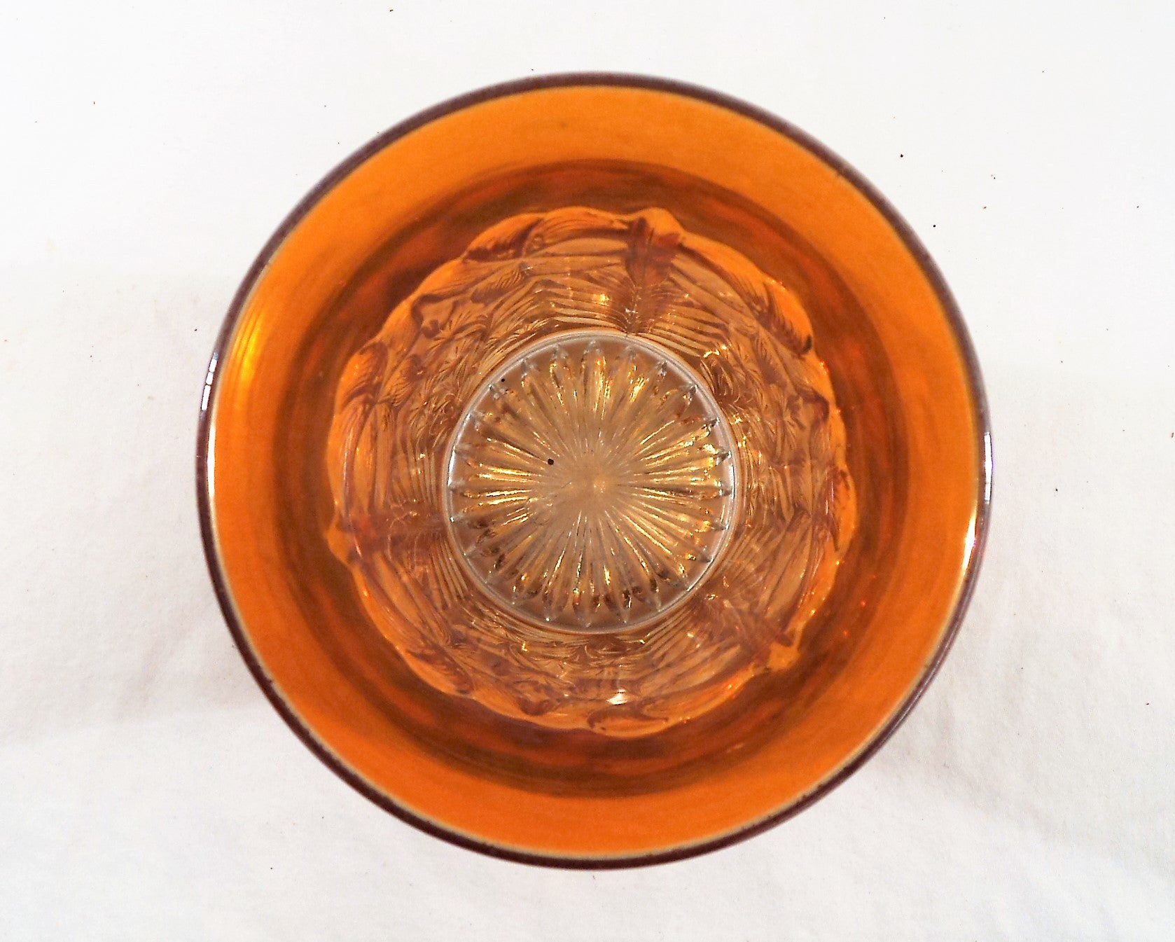1930s Imperial Tiger Lily Marigold Carnival Glass Tumbler