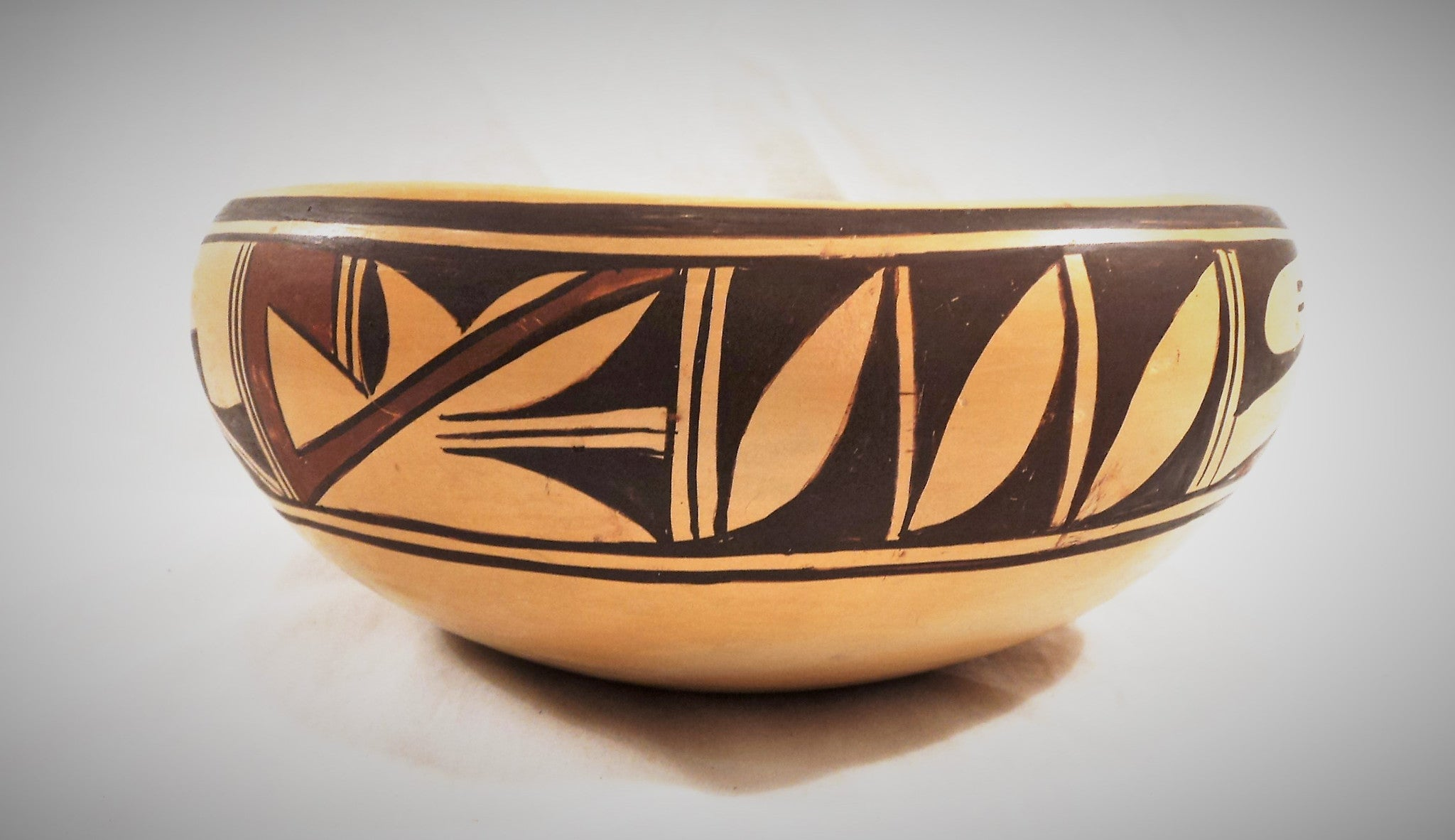 Hopi Ceramic Pottery Bowl by Olive Toney