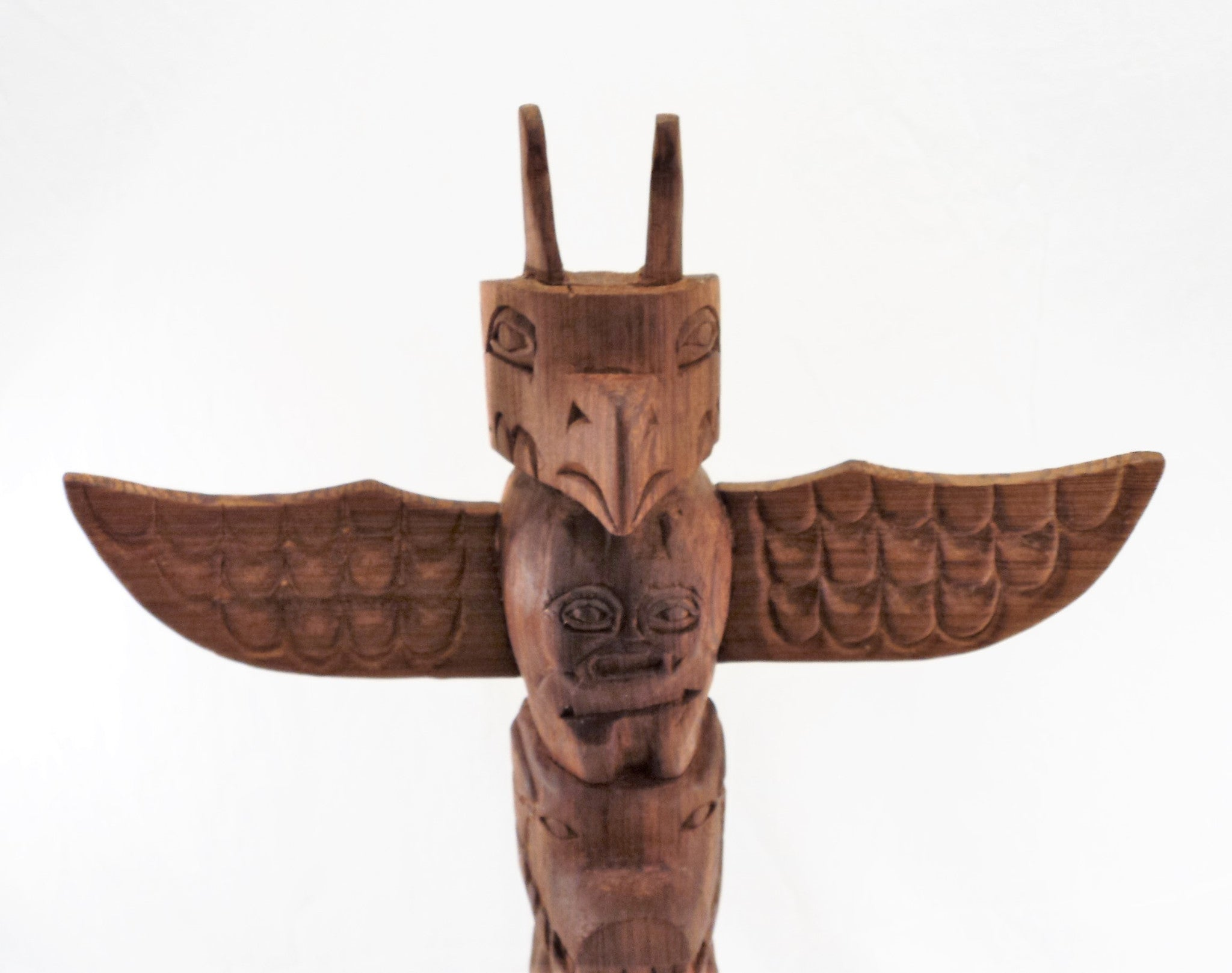 Model Totem Pole Nuu-chah-nulth by Charlie Mickey