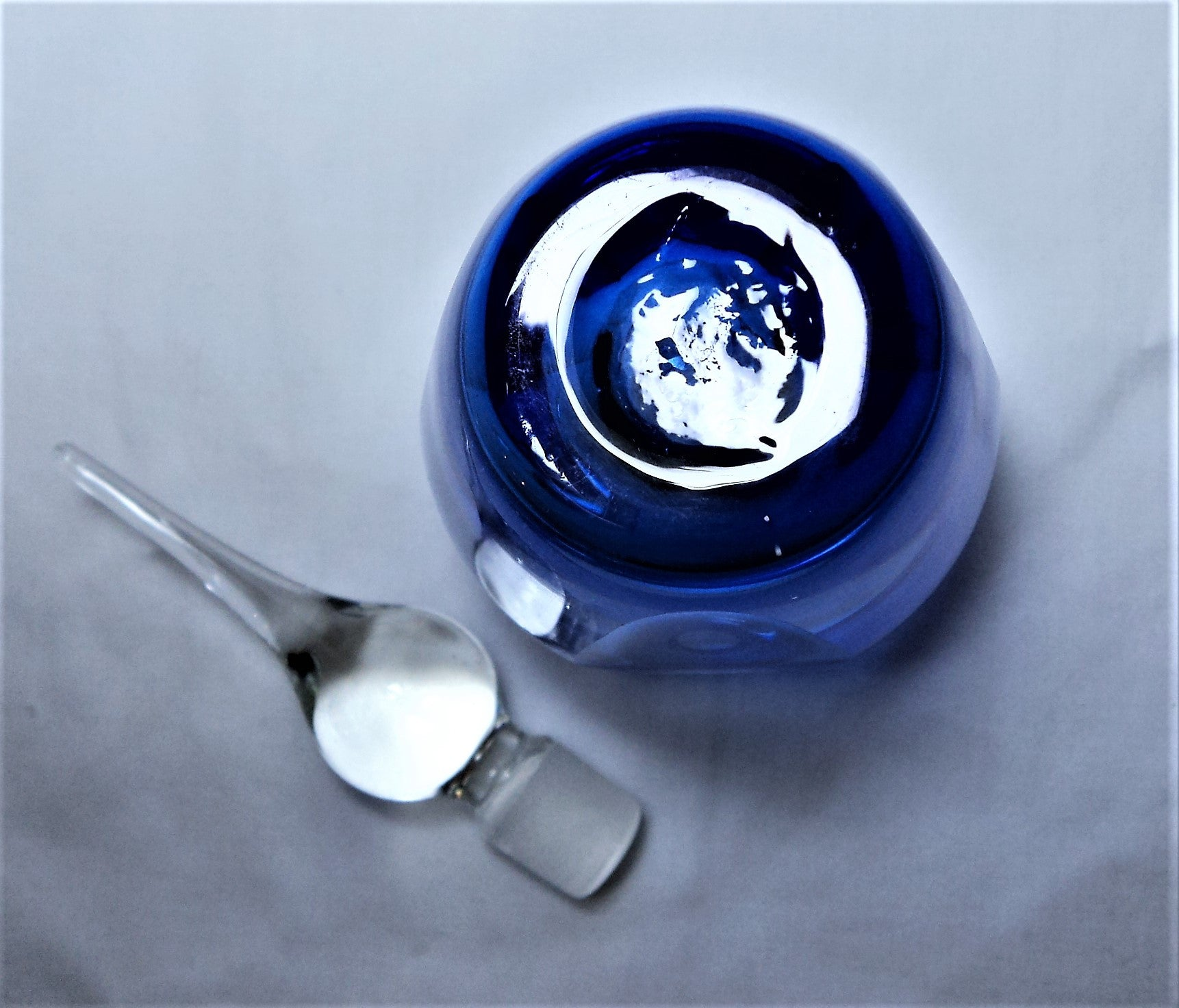 Cobalt Blue Sommerso Perfume Bottle