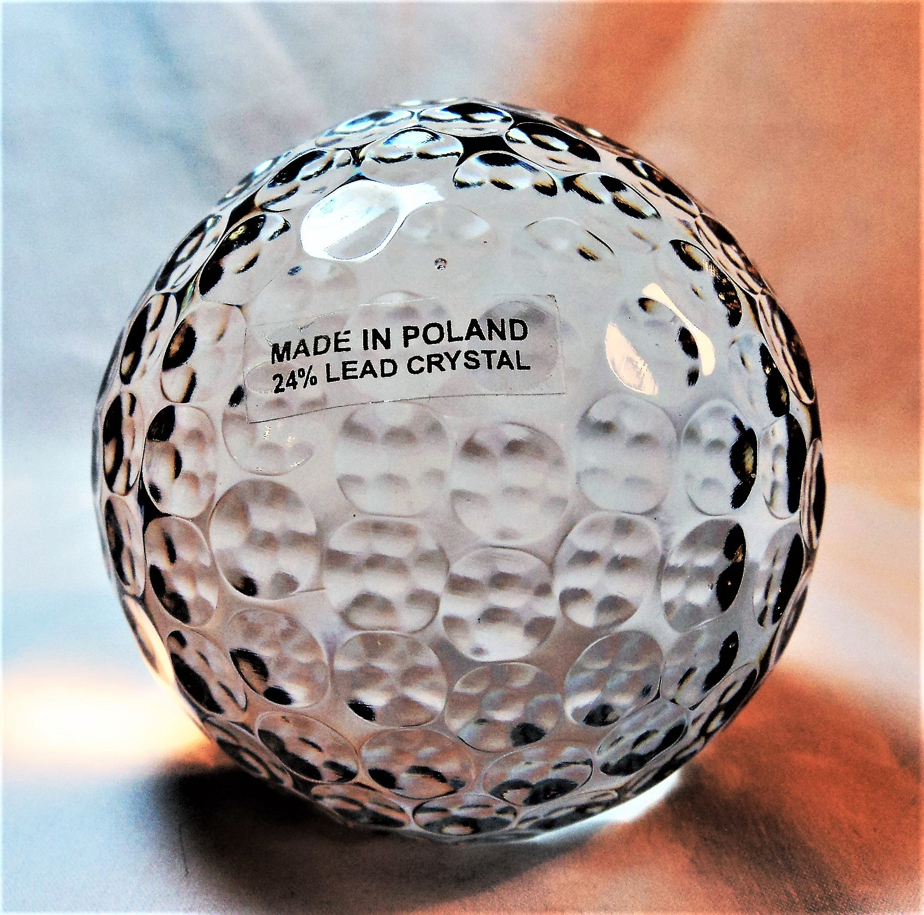 24% Lead Crystal Globe Paperweight