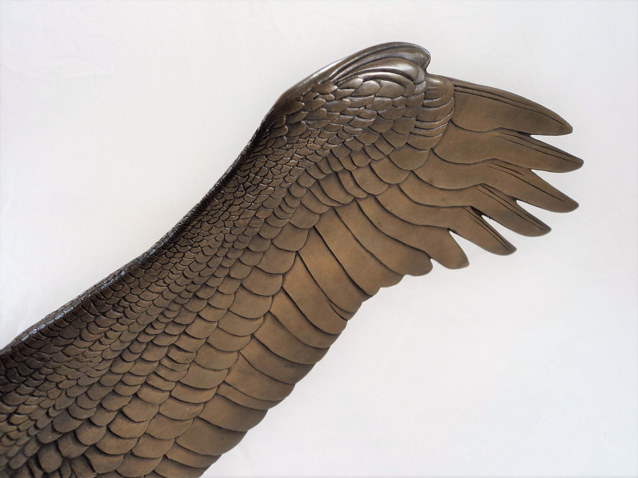 Vintage Eagle Bronze Sculpture by Gilroy Roberts (1905-1991)