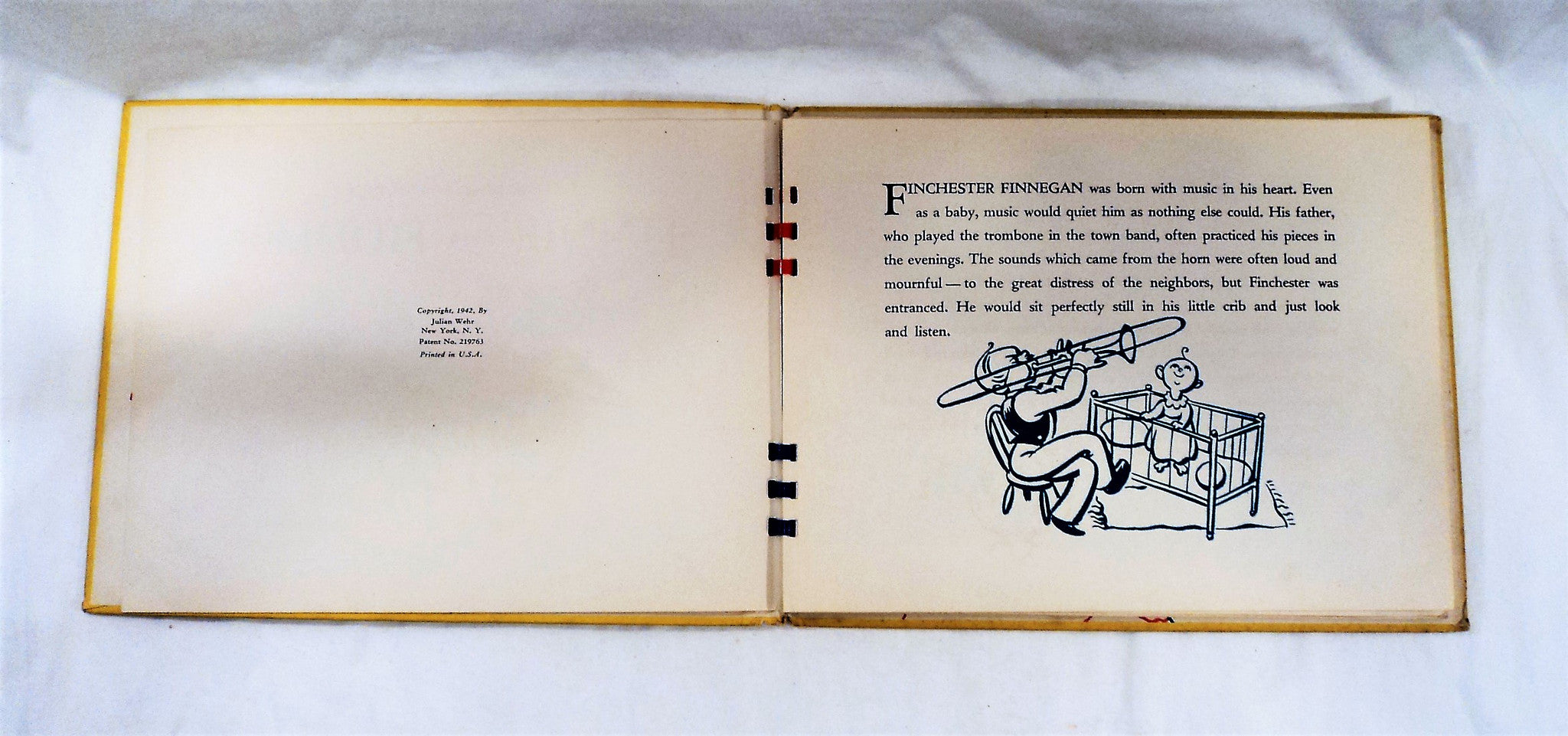 1942 Finnie The Fiddler Movable Animation Book