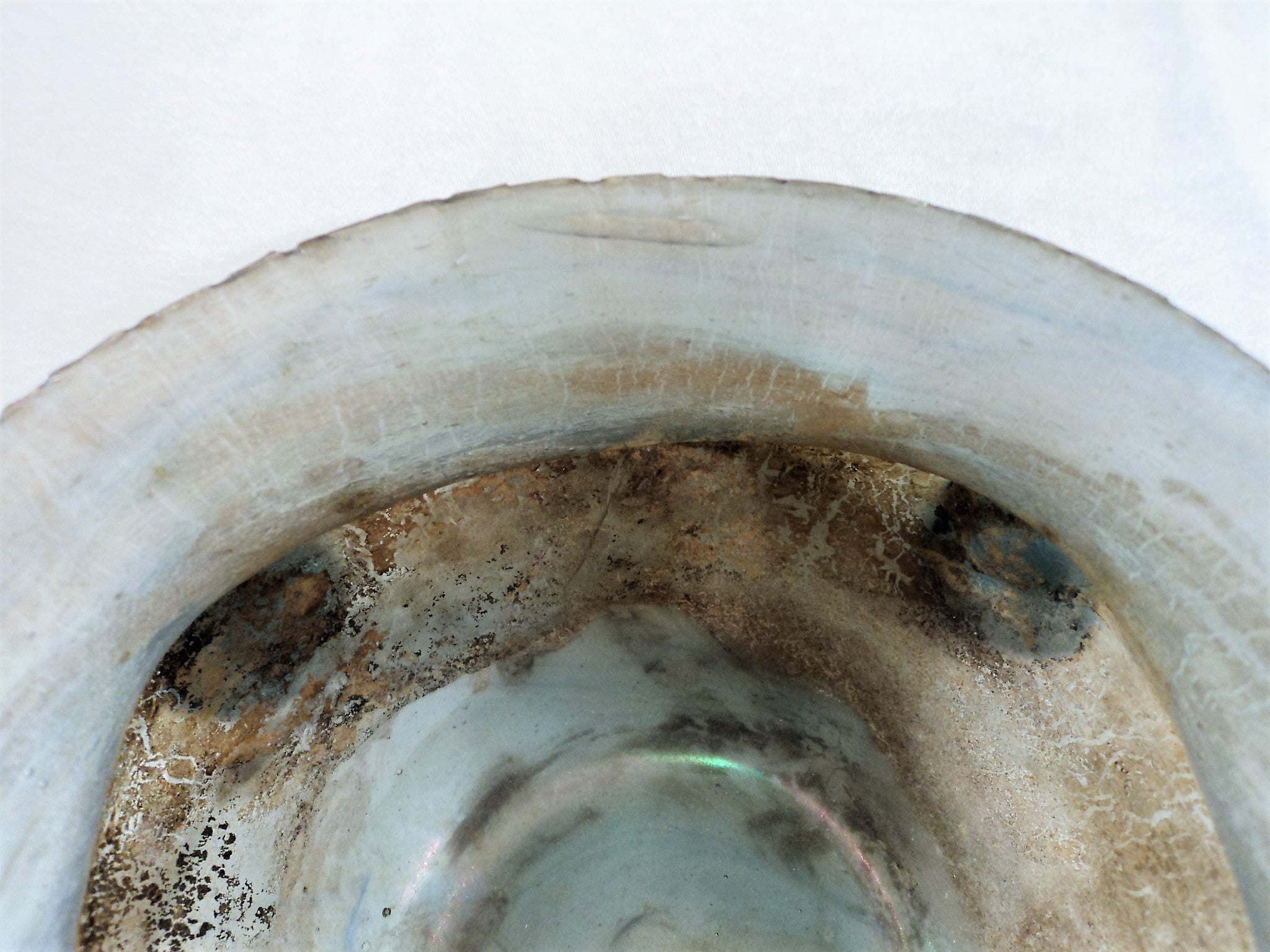 Ancient Hand-Blown Roman Style Glass Bowl