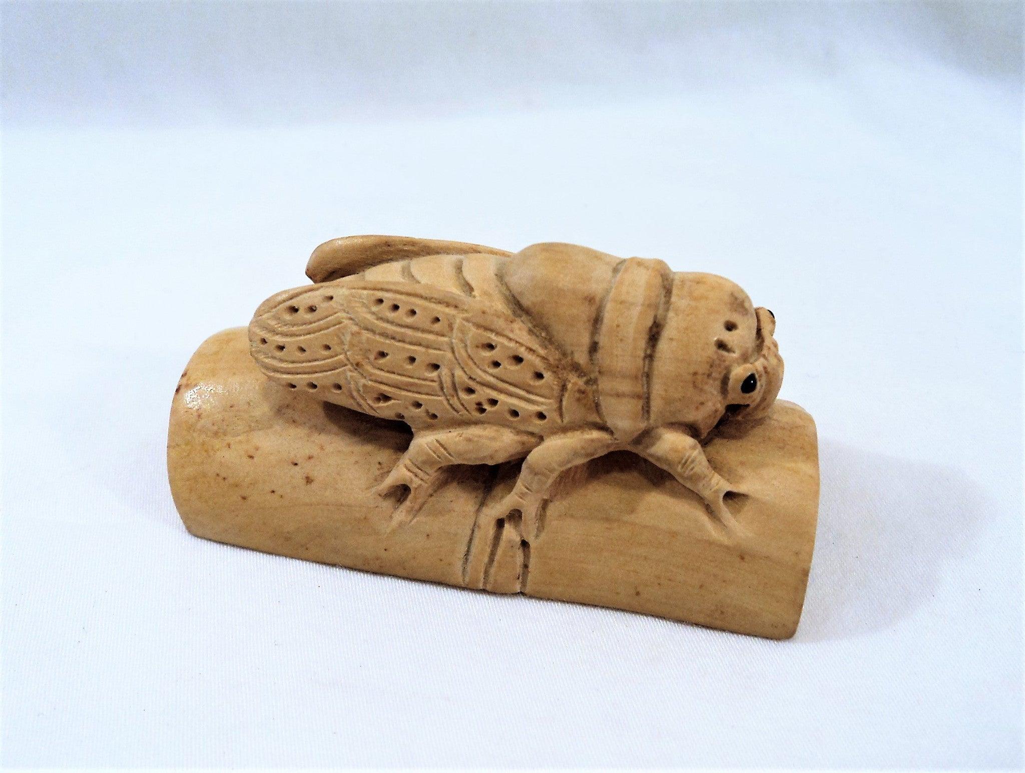 Hand-Carved  Japanese Bamboo Cicada