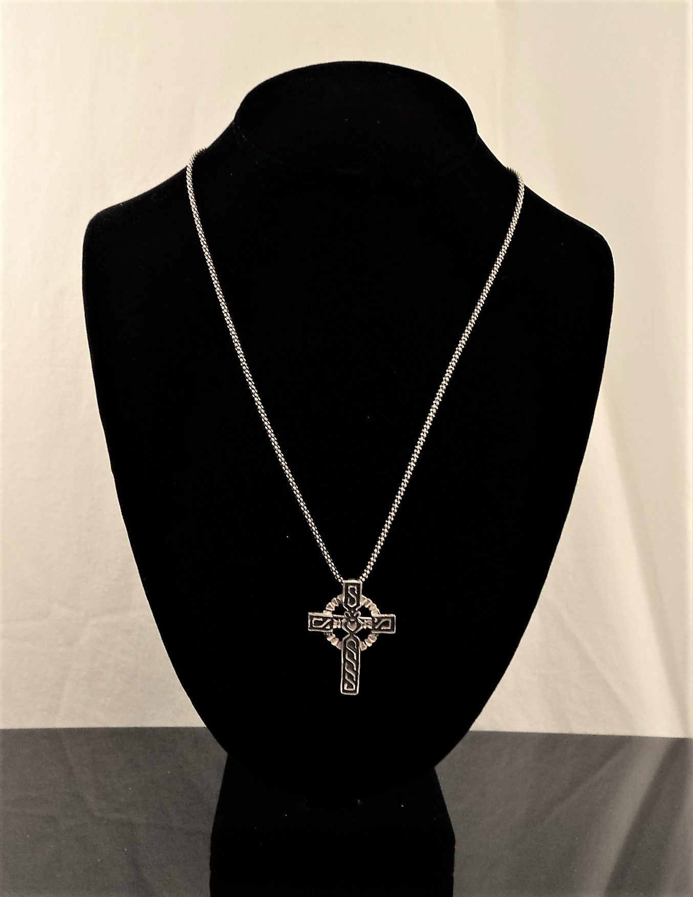 Thailand Sterling Silver Cross Necklace
