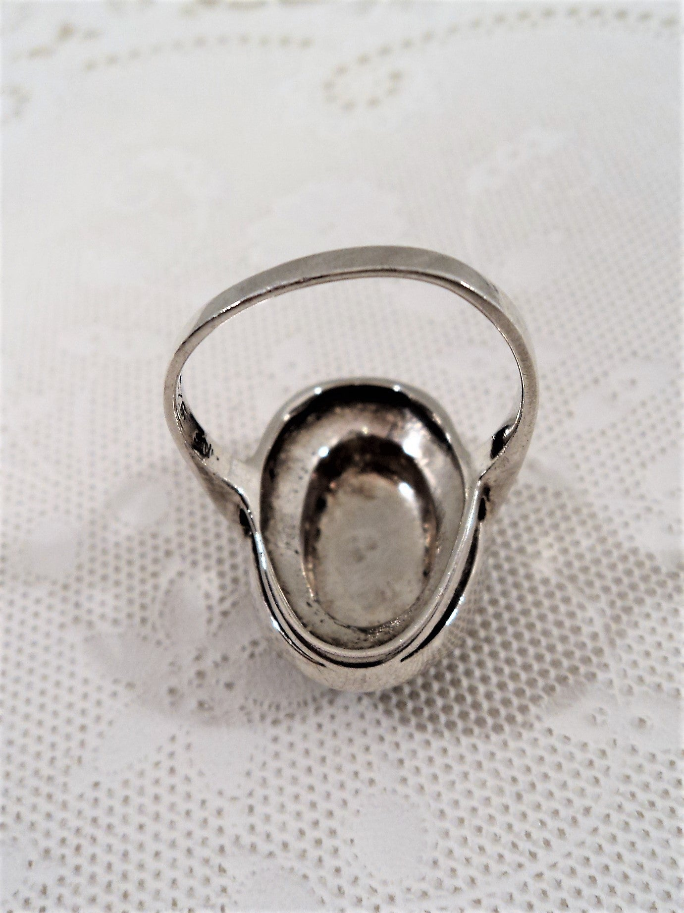 Sterling Silver Marcasite Oval Cocktail Ring