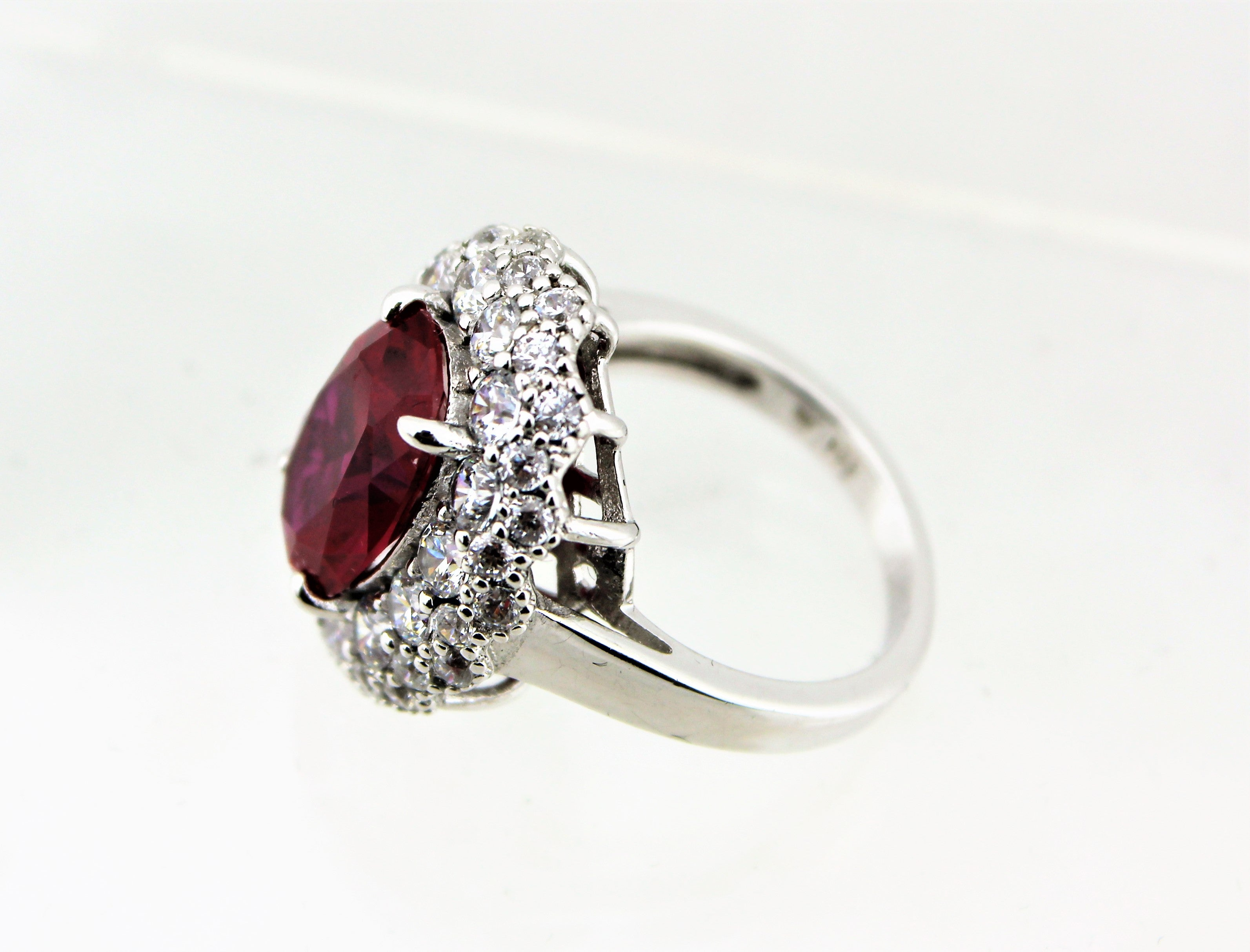 Sterling Silver Pink Sapphire Cocktail Ring