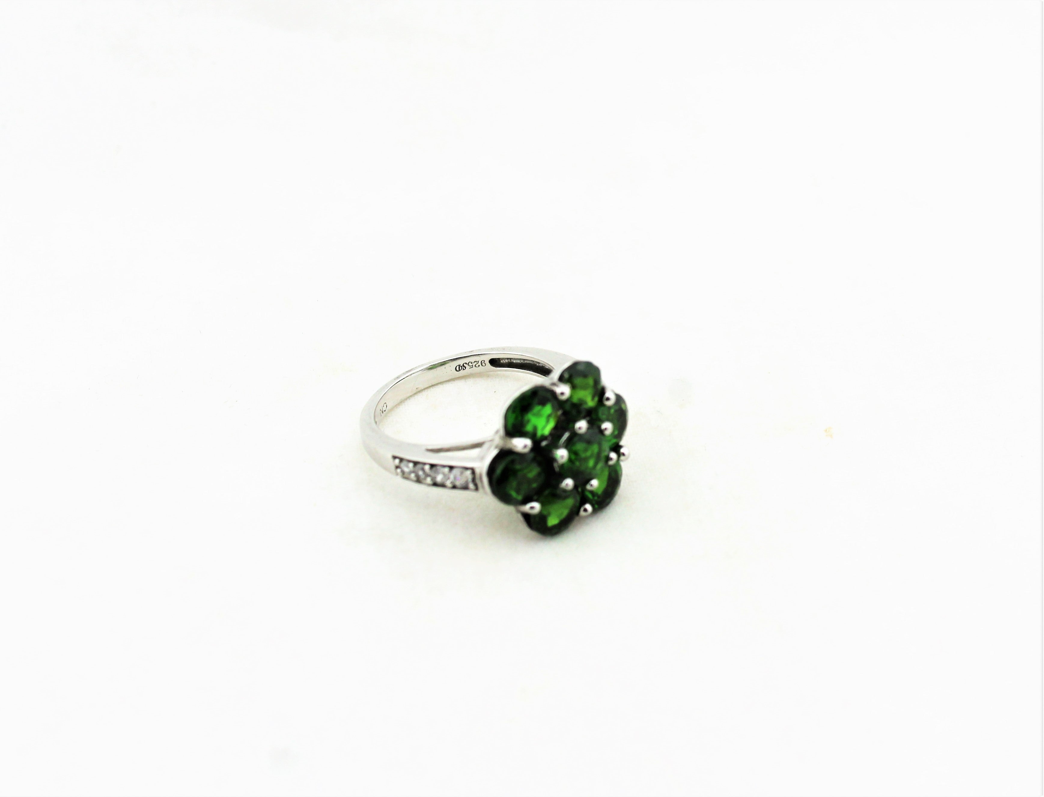 Sterling Silver Green Diopside Ring