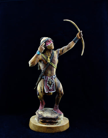 Raymond Chee Navajo Warrior Sculpture