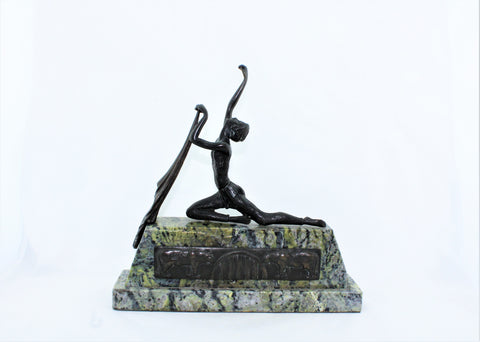 Art Deco Female Bronze Sculpture