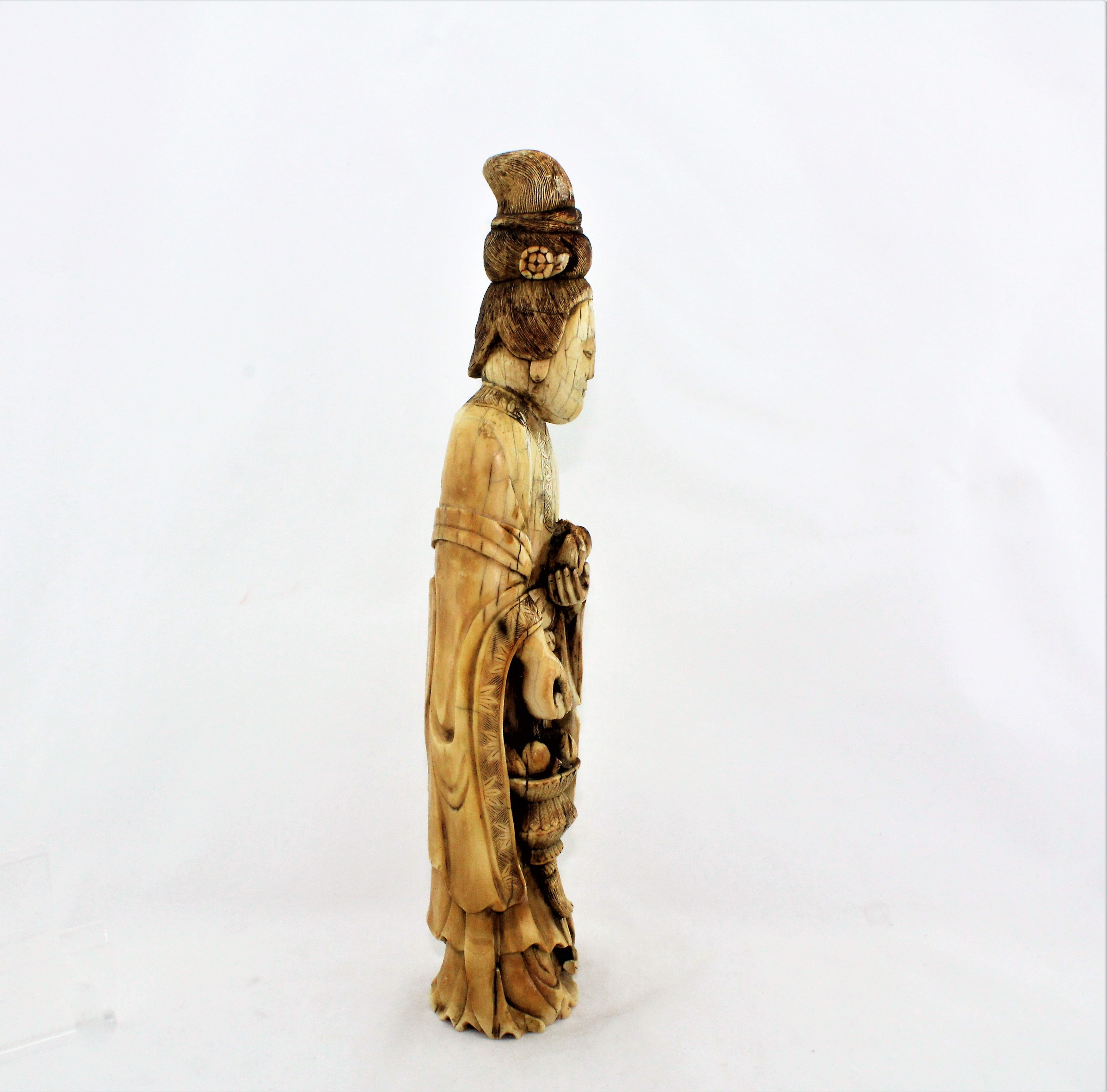 Antique Hand Carved KuanYin