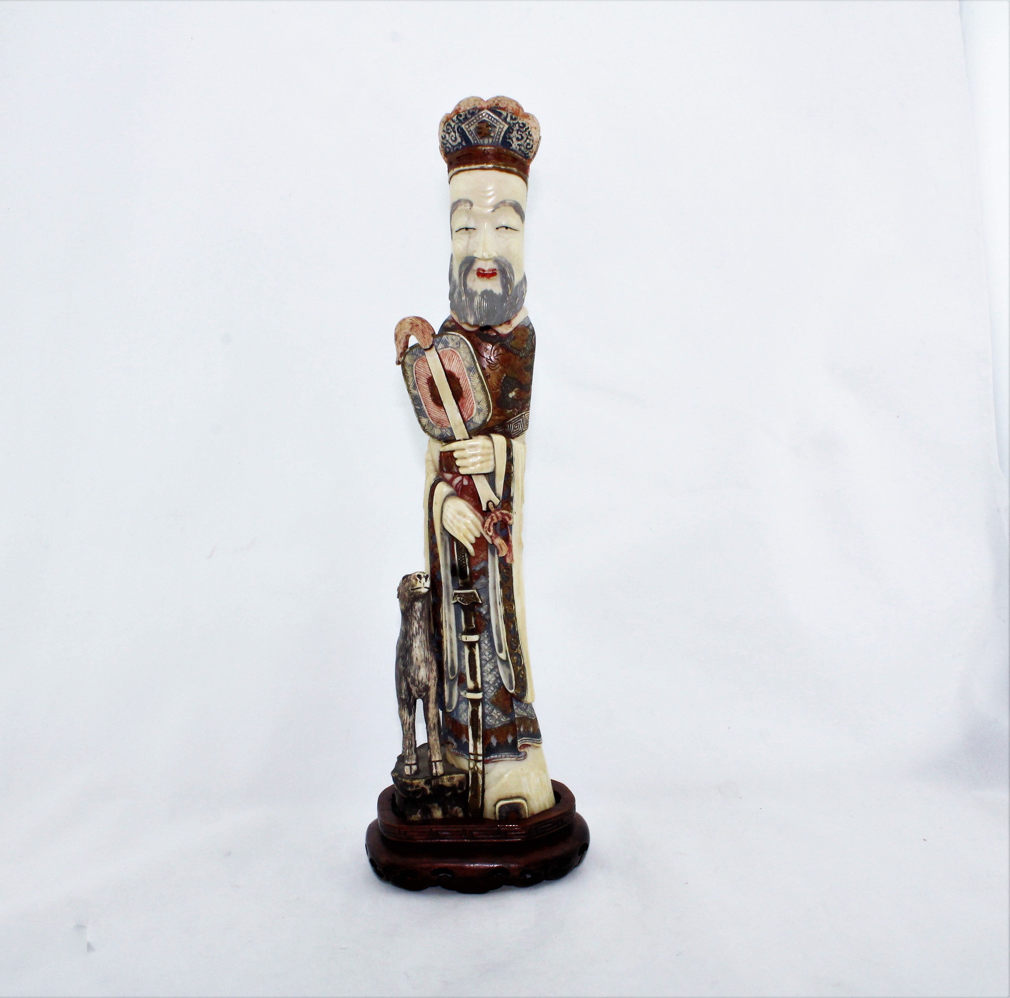 Antique Carved Chinese Scholar Figure