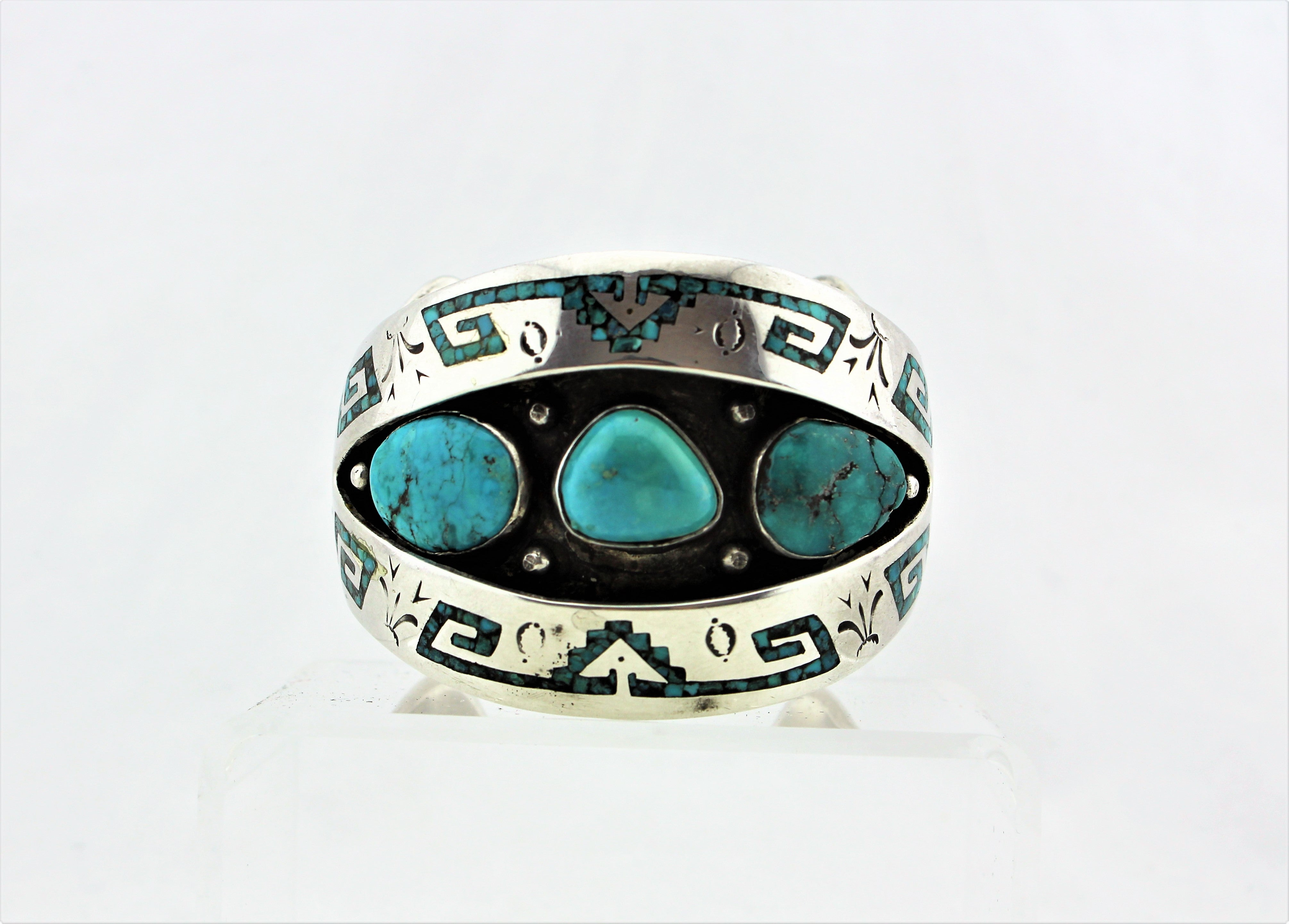 Navajo Shadowbox Inlay Bracelet