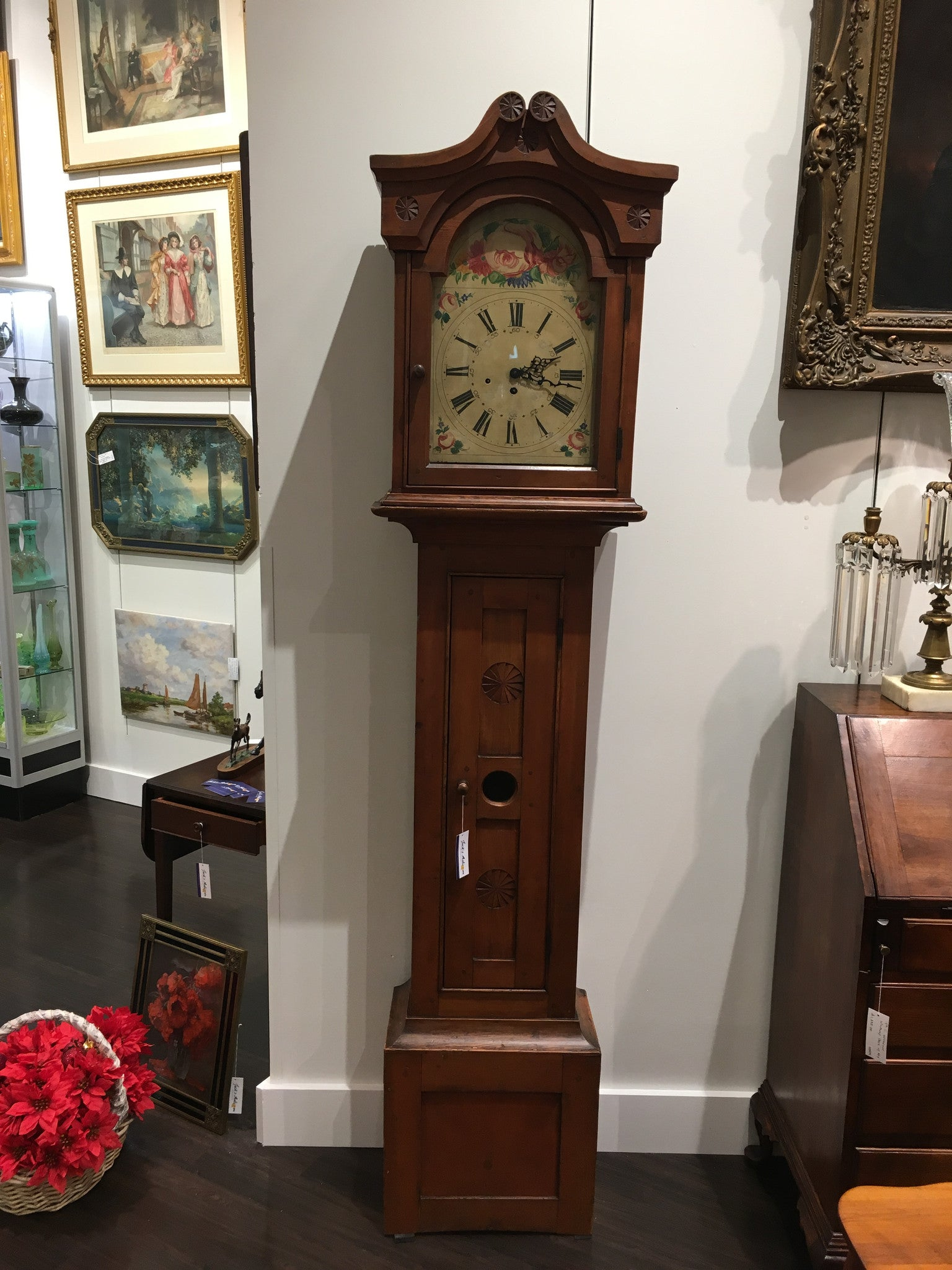1837 Early American Grandfather Clock