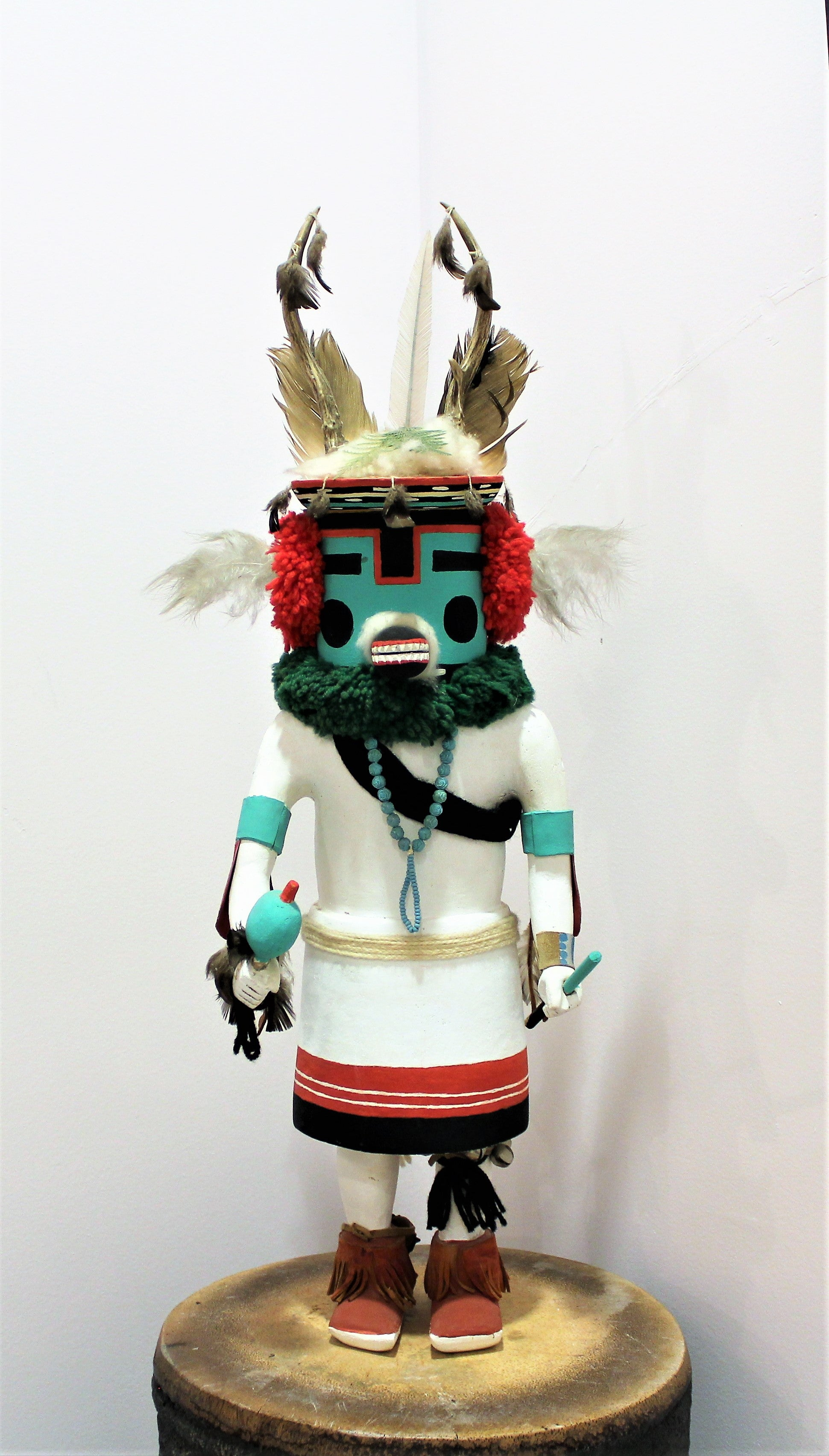 Large Deer Kachina Doll Sculpture