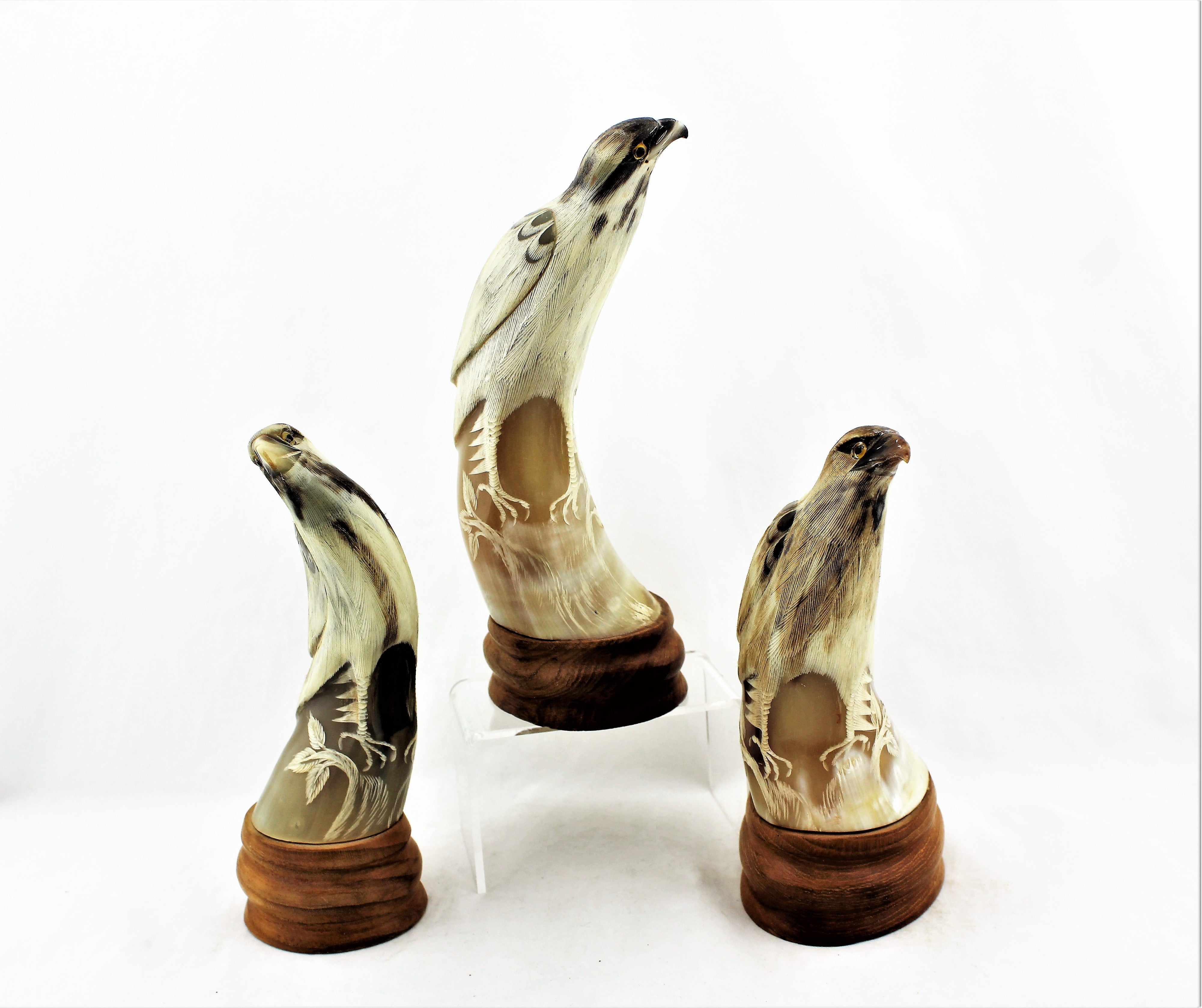Carved Horn Falcons