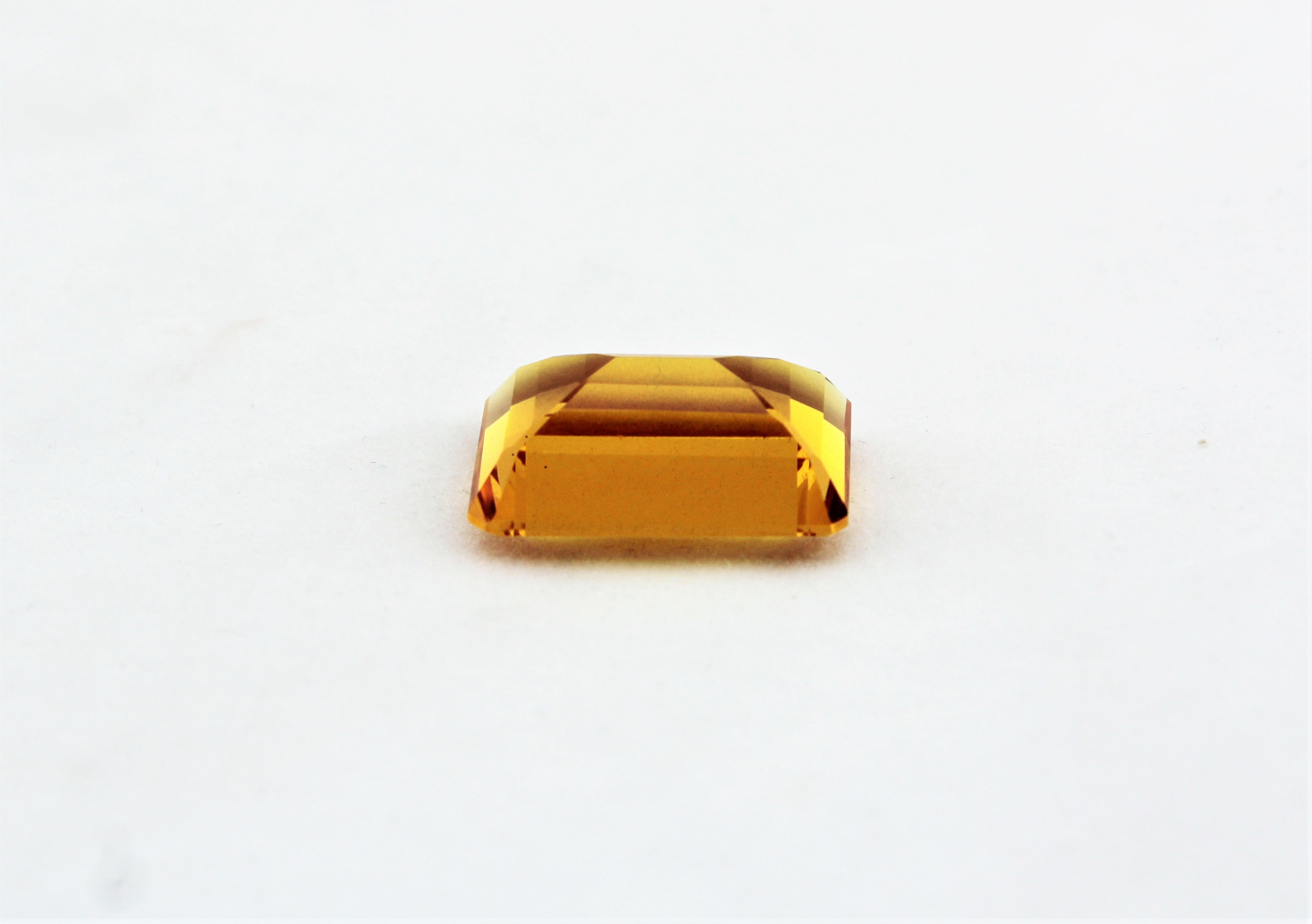 Certified Emerald Cut Citrine