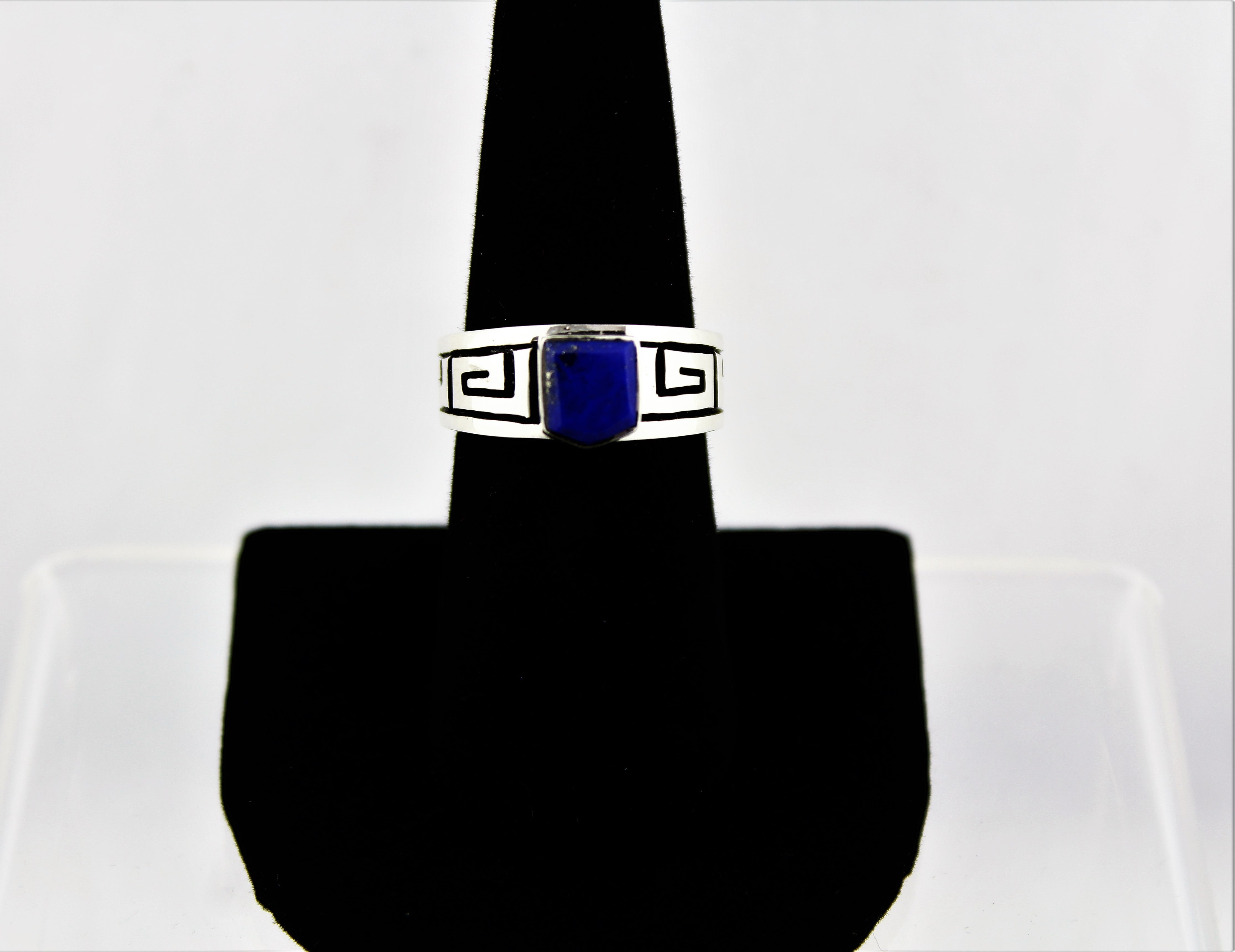 Native American Sterling Silver Lapis Ring