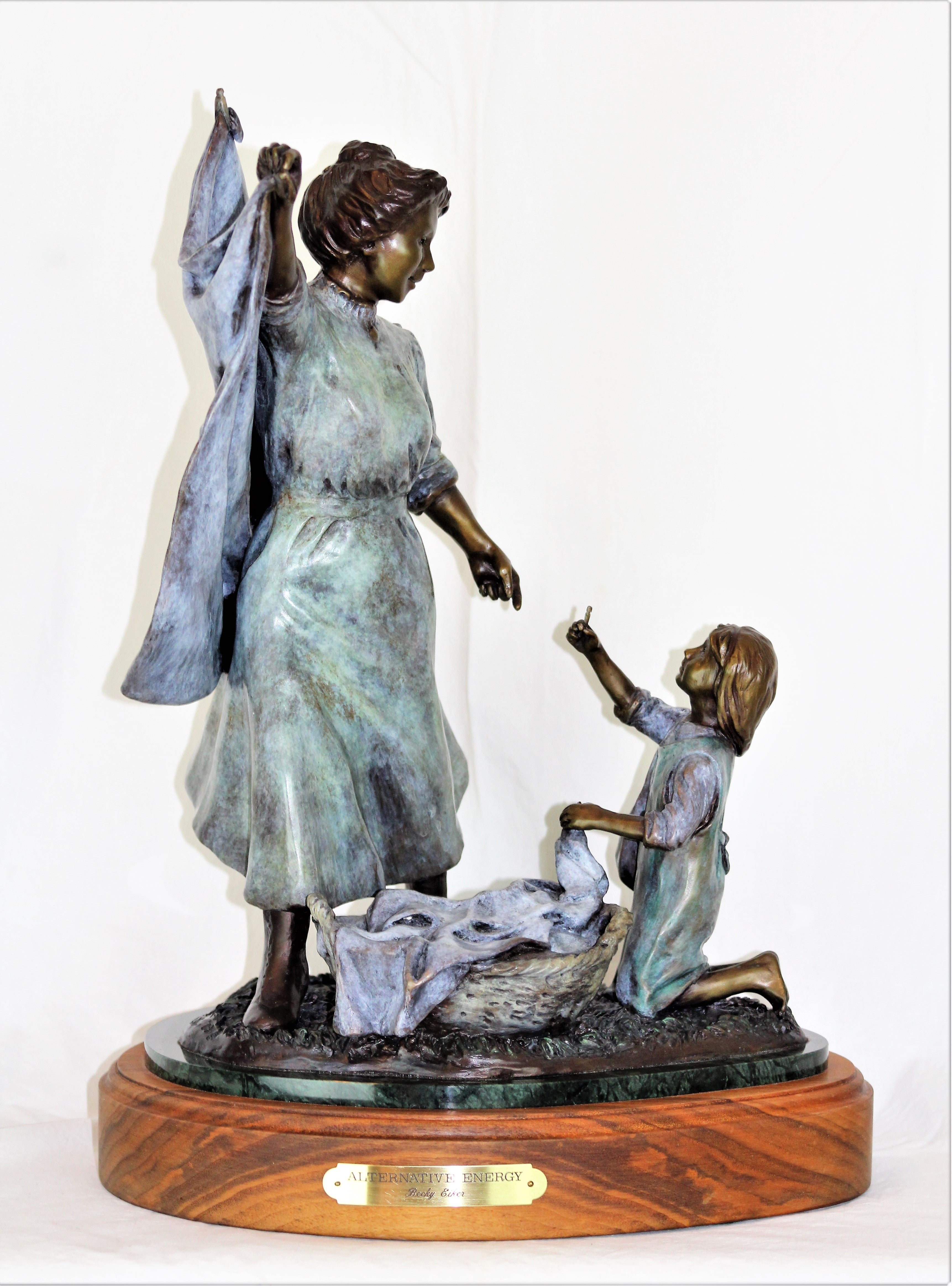 Mother and Daughter Bronze