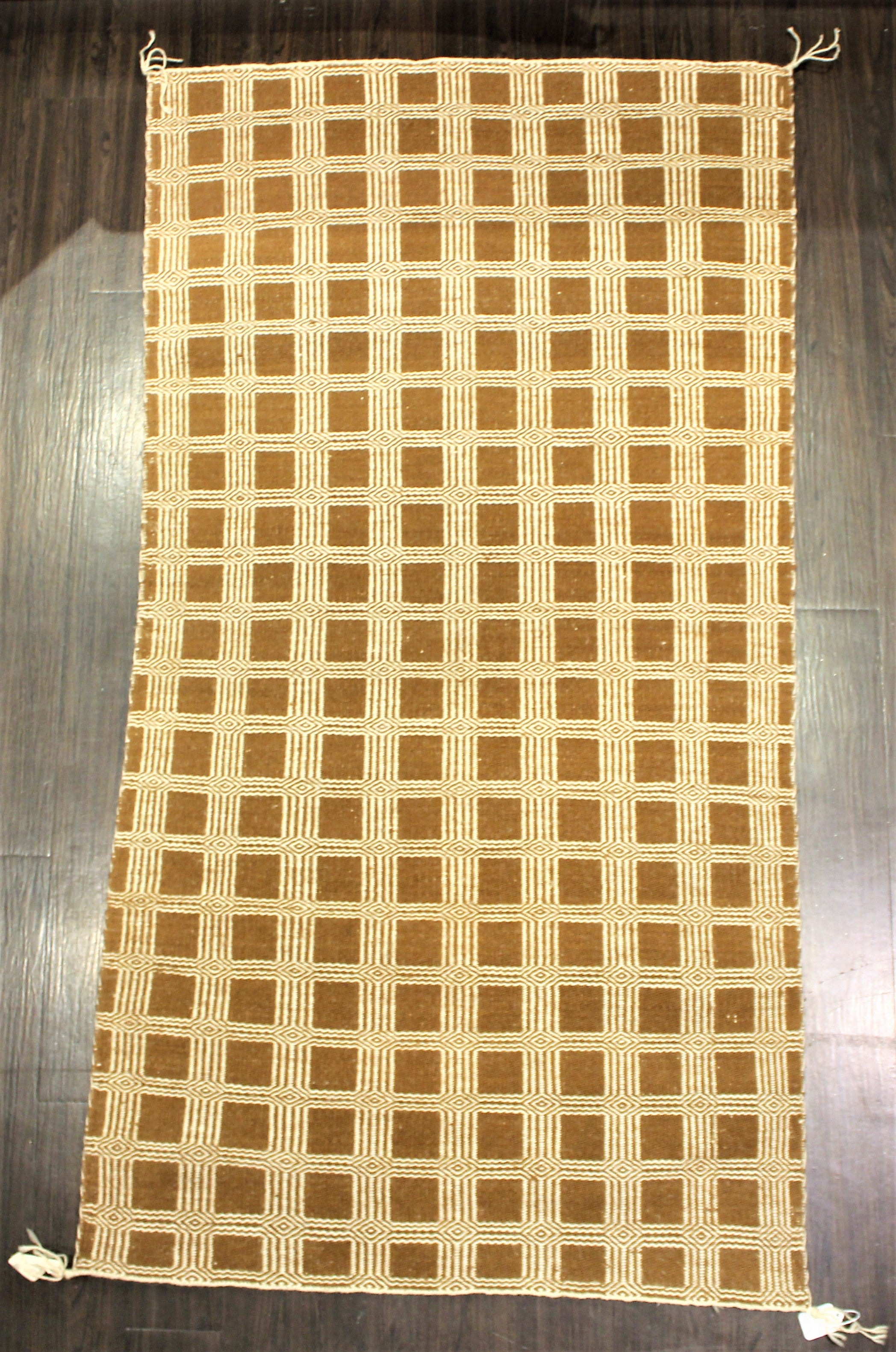 1970s Double Weave Two Sided Navajo Rug