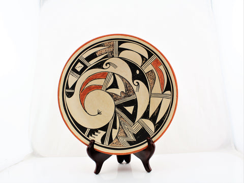Evelyn Poolheco Large Hopi Tewa Pottery Dish