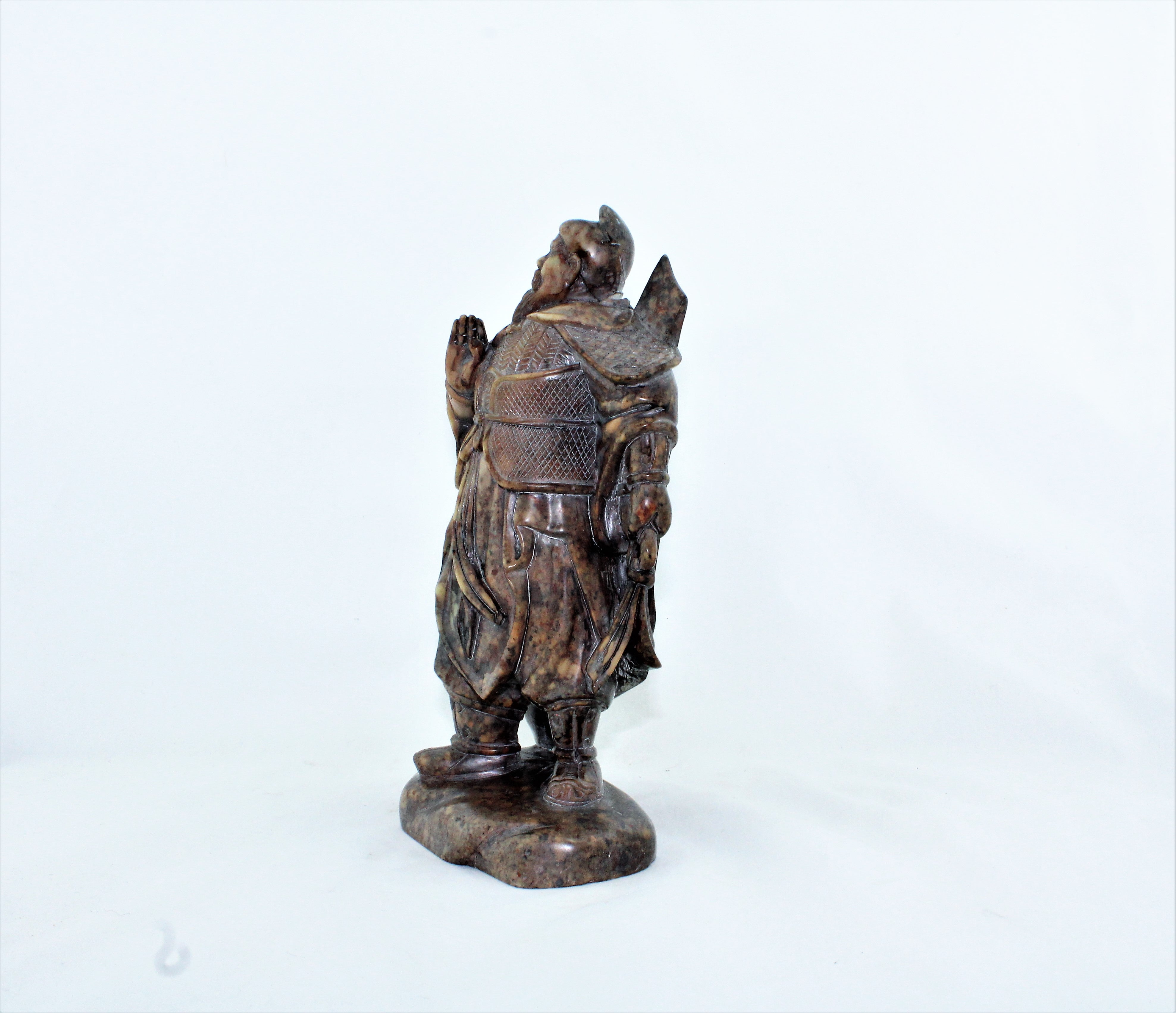 Asian Carved Soapstone Warrior