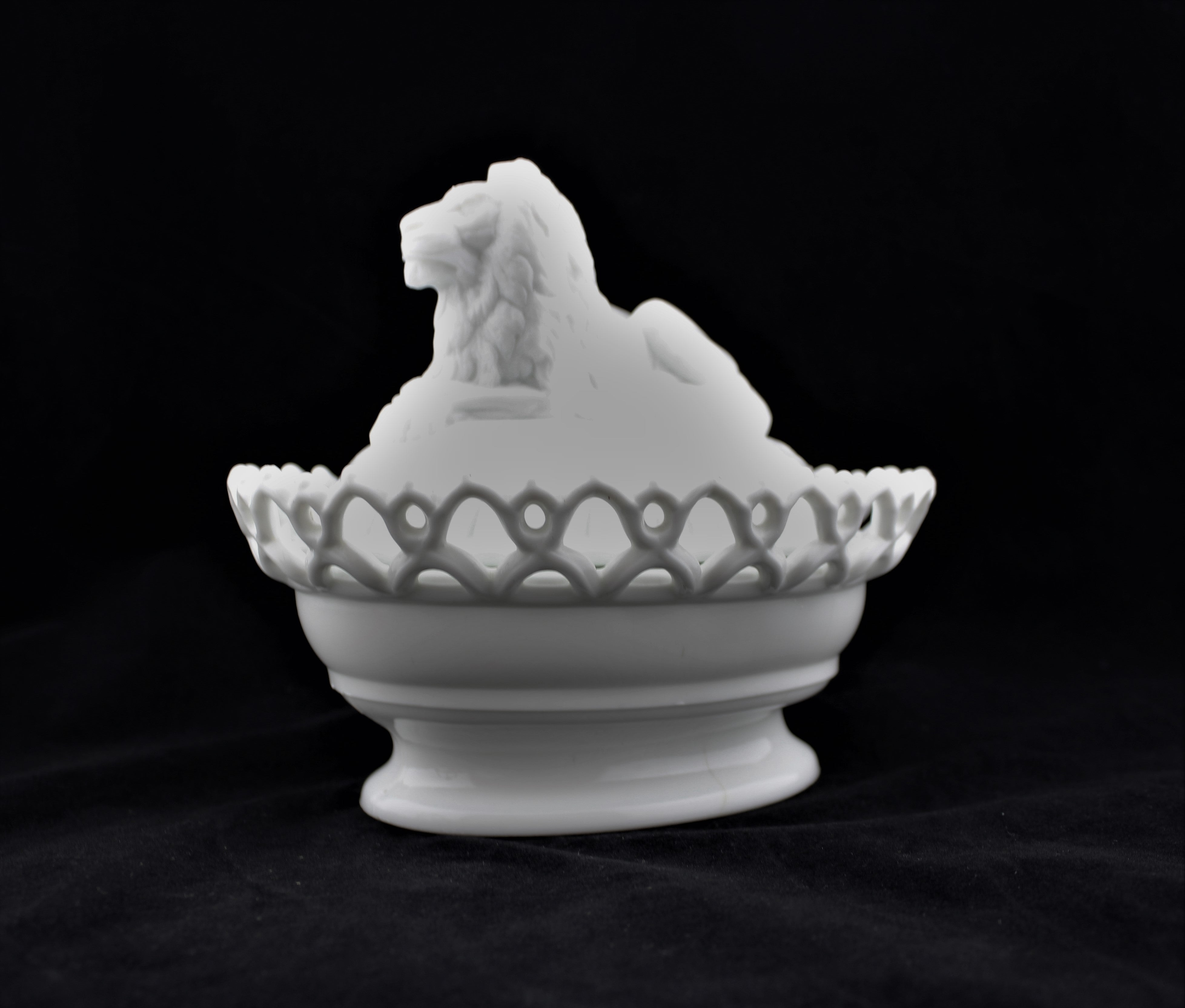 Atterbury Lion Covered Dish