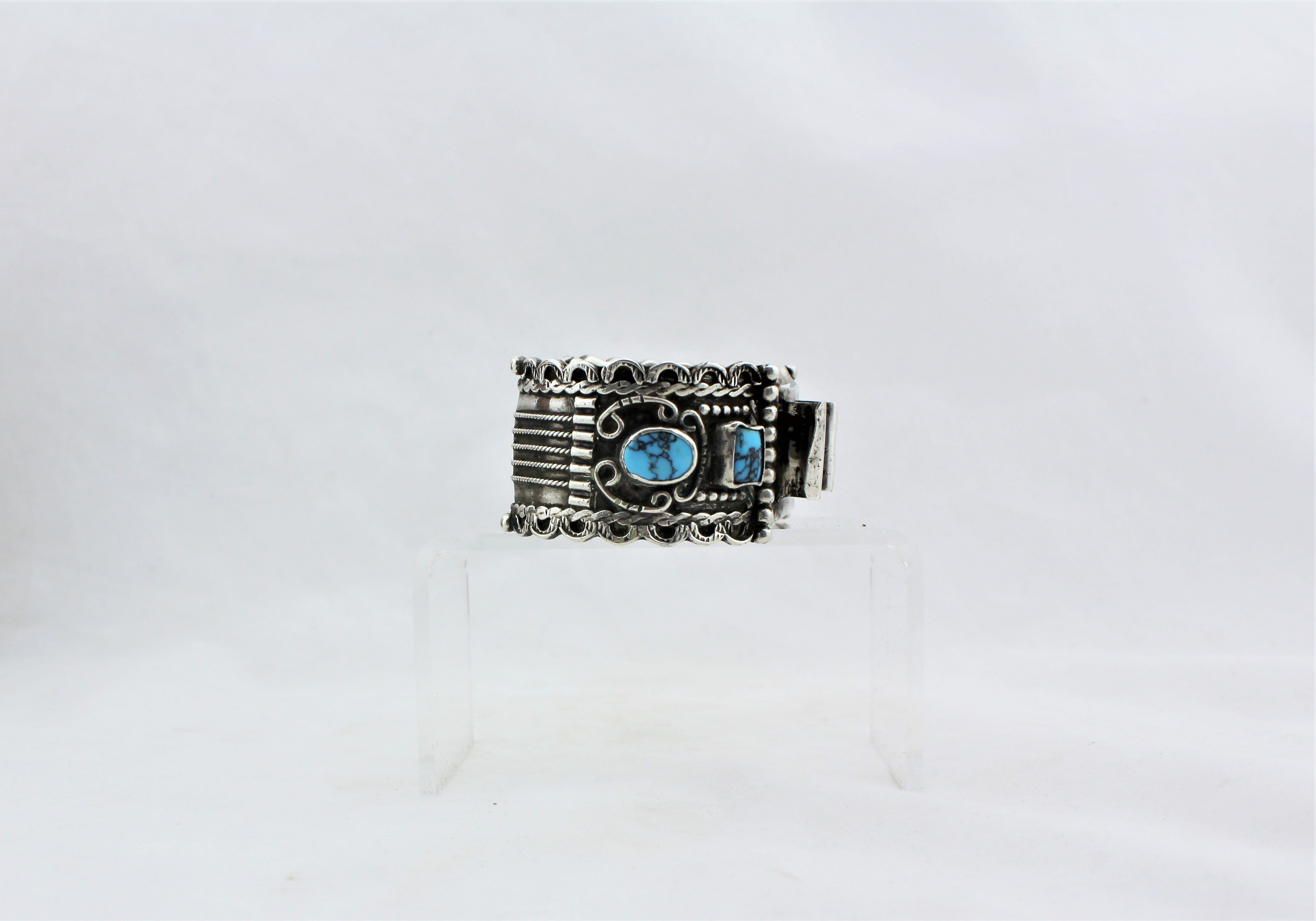 Sterling Silver and Turquoise Watch Cuff