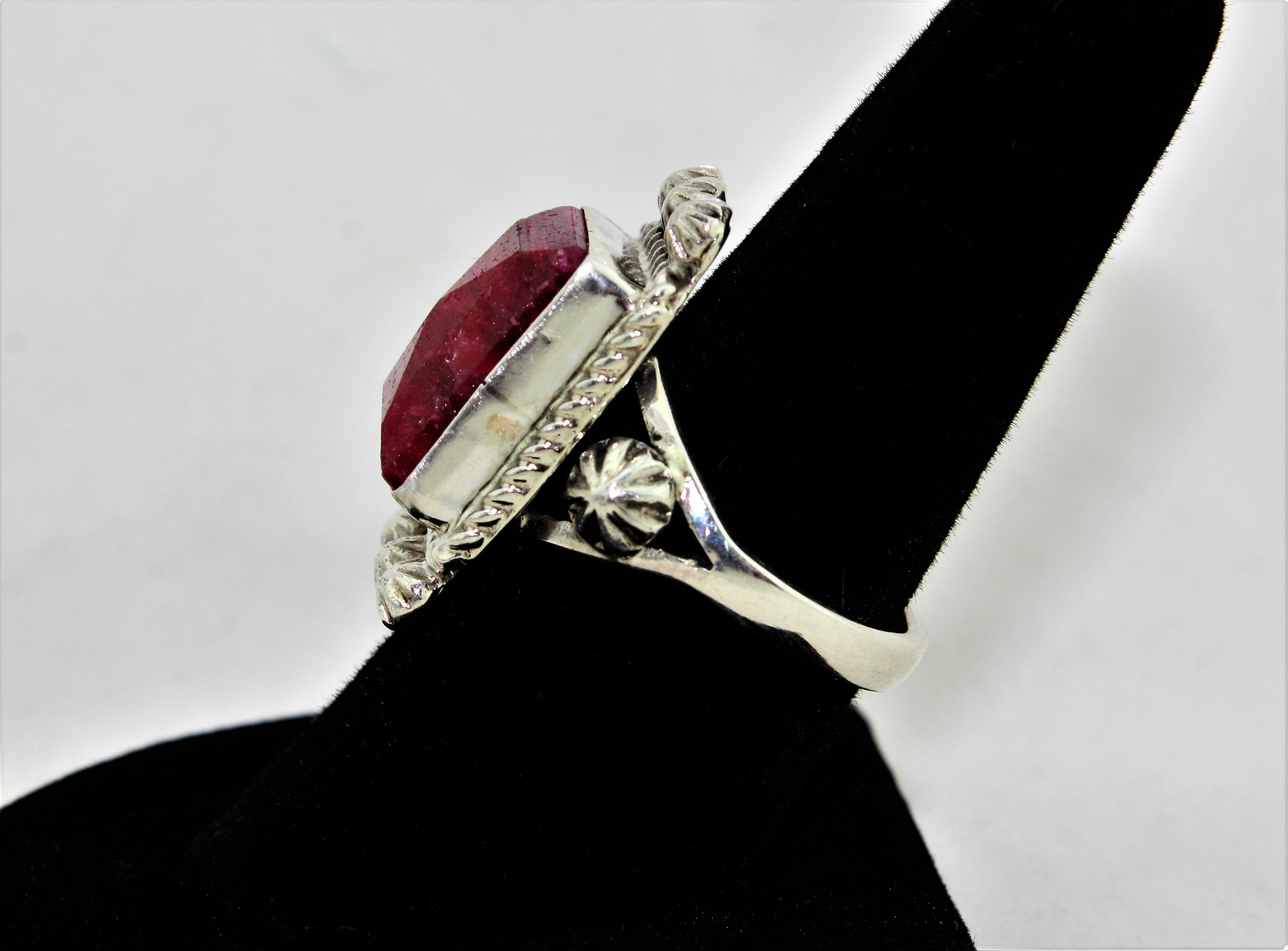 Natural Ruby Sterling Silver Ring