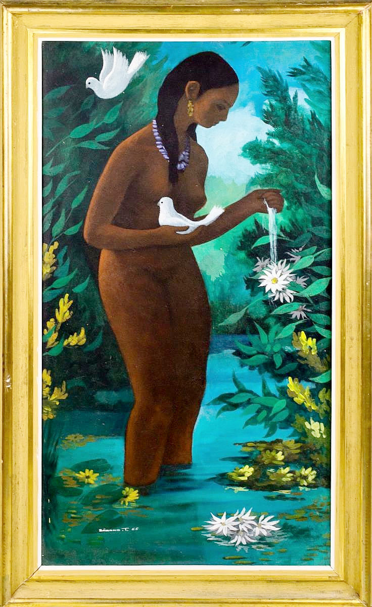 Jose Samano Figural Oil Painting