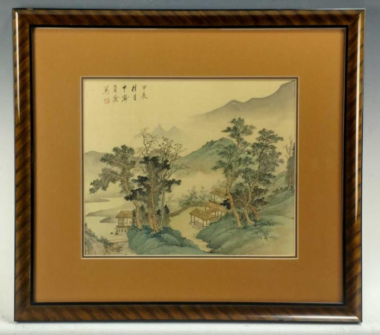Japanese Landscape Painting on Silk