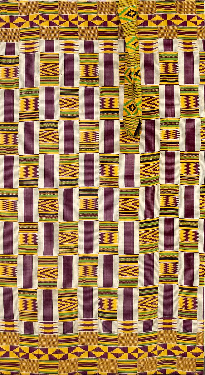 African Kente Cloth and Sash
