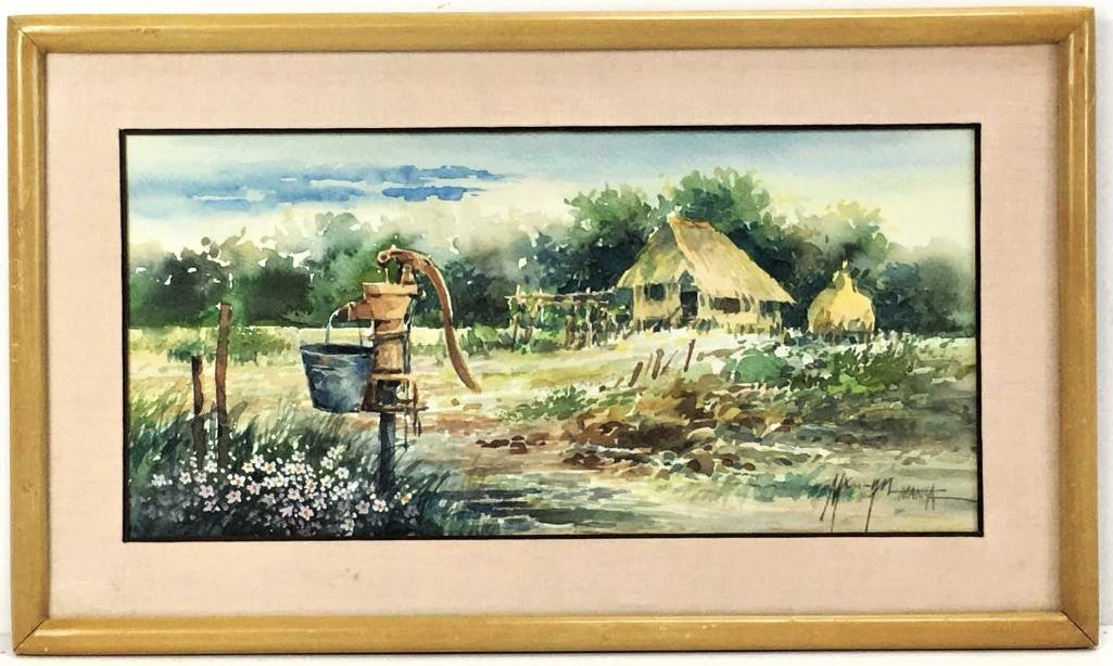 Rural Scene Watercolor
