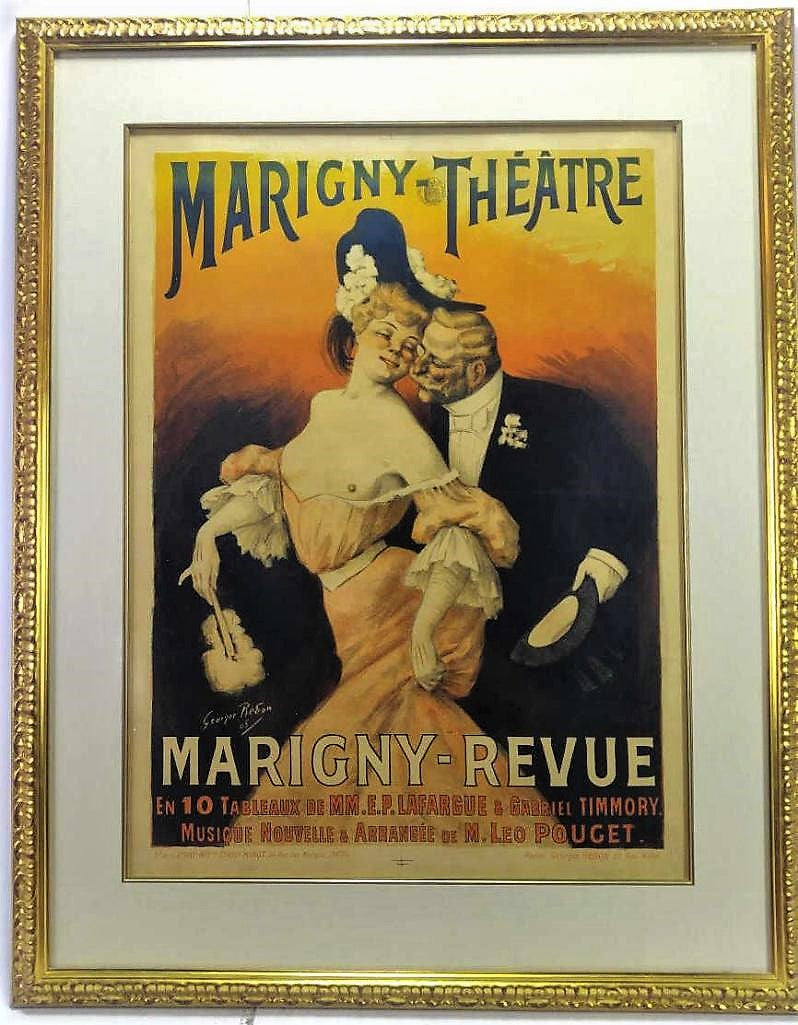 Antique French Marigny Theatre Poster