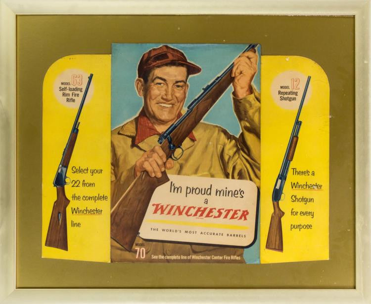 Winchester Model 70 Die-Cut Advertising