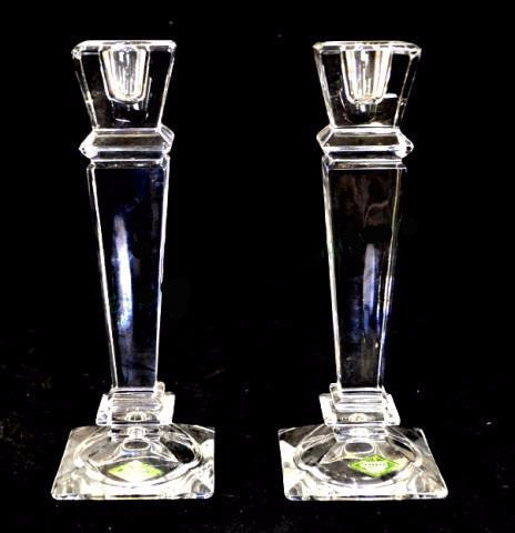 Shannon Crystal Candlesticks