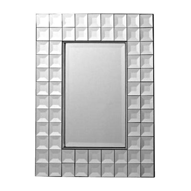 Wall Mirror Bevel Rectangle Tiled Wall Mirror (72cm) *SECONDS | Koop.co.nz