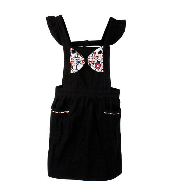 Retro Apron Bow-licious Black Retro Apron | Koop.co.nz