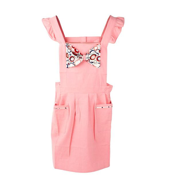 Retro Apron Bow-licious Pink Retro Apron | Koop.co.nz