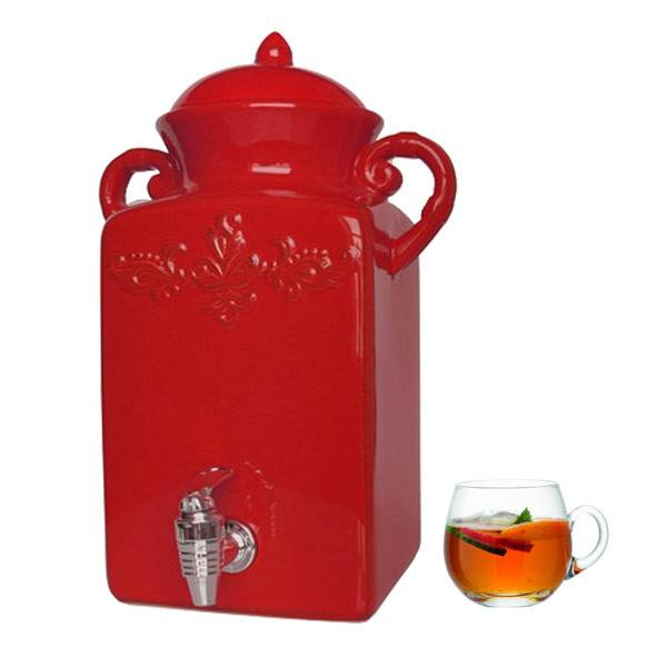 Tuscan Red Beverage Dispenser | Koop.co.nz