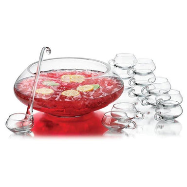 Libbey Punch Bowl Set (14pc) | Koop.co.nz
