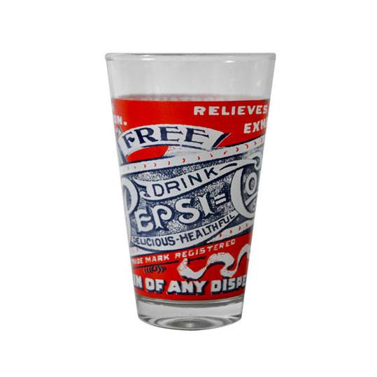 Retro Pepsi Cola Highball Glass - Blue | Koop.co.nz