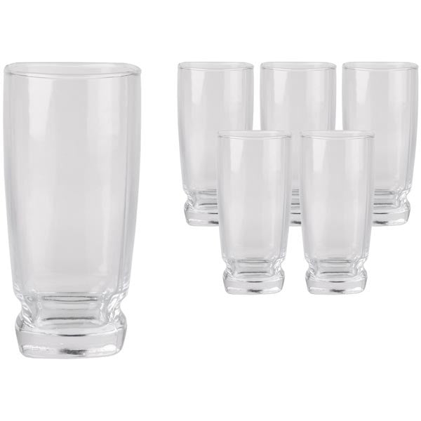 Day By Day Quadro Tumbler Glass Set (6pc) | Koop.co.nz