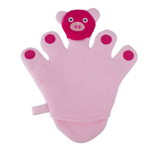 Kids Piggy Bath Mitt | Koop.co.nz