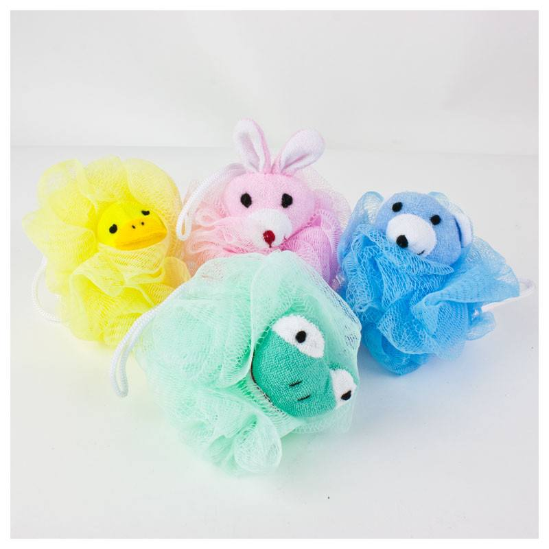 Kids Animal Shower Body Pouf | Koop.co.nz