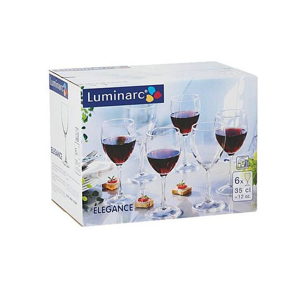 Luminarc Elegance Red Wine Glasses (6pc) | Koop.co.nz
