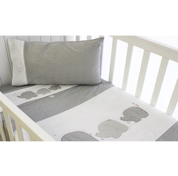 Bubba Blue Bassinet Sheet Set (3pc) - Petit Elephant | Koop.co.nz