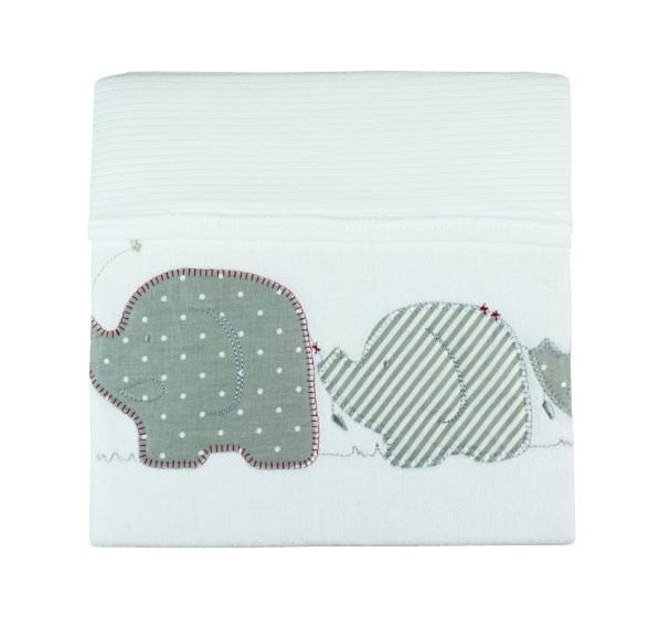 Bubba Blue Velour Cuddle Blanket - Petit Elephant | Koop.co.nz